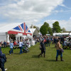 Crowds beginning to gather on day one of dressage