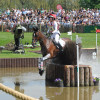 Canadian rider, Selena O'Hanlon leaping through The Lake with Foxwood High