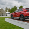 Mitsubishi Motors Expo stand is near the scoreboard at Badminton Horse Trials 2018