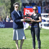The Princess Royal presents the Mark Holliday Memorial Trophy to Lucy Miles, groom to winning horse, Classic Moet.
