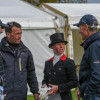 Ros Canter analysing her lead-taking test with Dickie Waygood, Ian Woodhead and Christopher Bartle