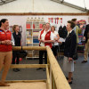 The Princess Royal discusses the mechanical horse at the British Horse Society tent