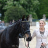 Lissa Green and 'Malin Head Clover' are all smiles at the first horse inspection
