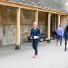 Nicola Wilson having a wander around the stables