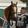 Andrew Nicholson and 'Nereo' receive the Mitsubishi Motors trophy