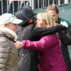 Big hug for Hannah Sue Burnett