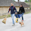 Brooming brilliant - Lissa Green and her trusty companion, Rico look delighted upon their arrival