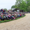 A huge turn-out in front of Badminton House