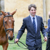 Dominic Furnell looking happy at the final horse inspection