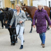Lissa Green and 'Malin Head Clover' looking lovely at the final horse inspection