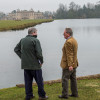 Hugh Thomas at the lake with TV Director Gerry Morrison