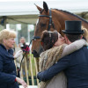 A kiss from Mum Lisa for Ben Hobday