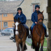 Louise Harwood (left) with her 2 rides Mr Potts and Whitson