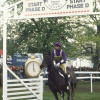 1993 winner Ginny Leng riding Master Craftsman sets off from the start of cross country