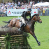 Three time Badminton winner Sir Mark Todd riding Leonidas II NZL at Badminton 2016