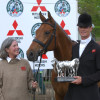 2004 winner William Fox-Pitt & Tamarillo with the Mitsubishi Motors Trophy pictured with owner The Hon Mary Guinness