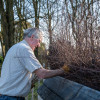 Alan Willis has been building fences at Badminton for 53 years in May 2019