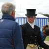 Izzy Taylor hears Yogi Breisner's thoughts on her dressage test