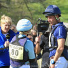 Tim & Jonelle price after Jonelle finished her second round on The Deputy interviewed for the BBC by Clare Balding