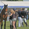 Hugs all round after Mary's show jumping round on Imperial Cavalier