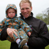 Nick Gauntlett with his son