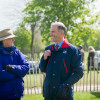 Lizzie Murray talking to David Holmes, chief executive of British Eventing