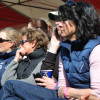 Zara Phillips watches Oliver Townend's test with Alex Franklin