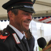 Leader Stefano Brecciaroli (ITA) is interviewed