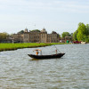 The view across the lake to Badminton House