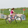 Pedalling round the course