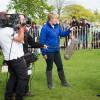 Clare Balding interviewing Ben Hobday