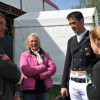 Jock Paget with Judy Bradwell and dressage trainer Andrew Gould