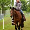 Ingrid Klimke has an early morning ride on Horseware Hale Bob