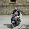 Merel Blom on her 2nd mode of transport
