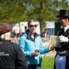 Charlotte Dujardin with Sir Mark Todd after the dressage