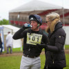 Oliver Townend rehydrates after a great round