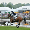 William Fox-Pitt gallops away from the lake complex