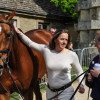 Pippa Funnell's Redesigned passes the trot up