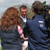 Mark Todd does a TV interview