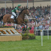 Mary King over the first and heading out of the arena on Imperial Cavalier