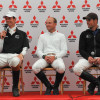 William Fox-Pitt, Michael Jung and Jock Paget at the press conference