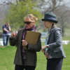 BYEH judge Hopper Cavendish makes her selection in the final stage of judging of the 4yr old Burghley Event Horse Class