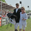 An emotional William Fox-Pitt, with Alice, after Tamarillo's retirement