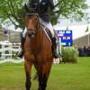 Ingrid Klimke jumps clear