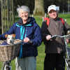 Mr and Mrs Reddaway & Daisy, from Tiverton. They haven't missed a Badminton for 31 years!