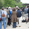 The press watch the final horse inspection