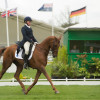 Colleen Rutledge with Shiraz in dressage