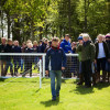 Harry Meade helping the Mitsubishi Grassroots riders with a coursewalk.