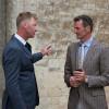 Erik Duvander deep in conversation with Mark Todd