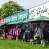 The sun is shining, but clothing for all weathers is available at Badminton.
